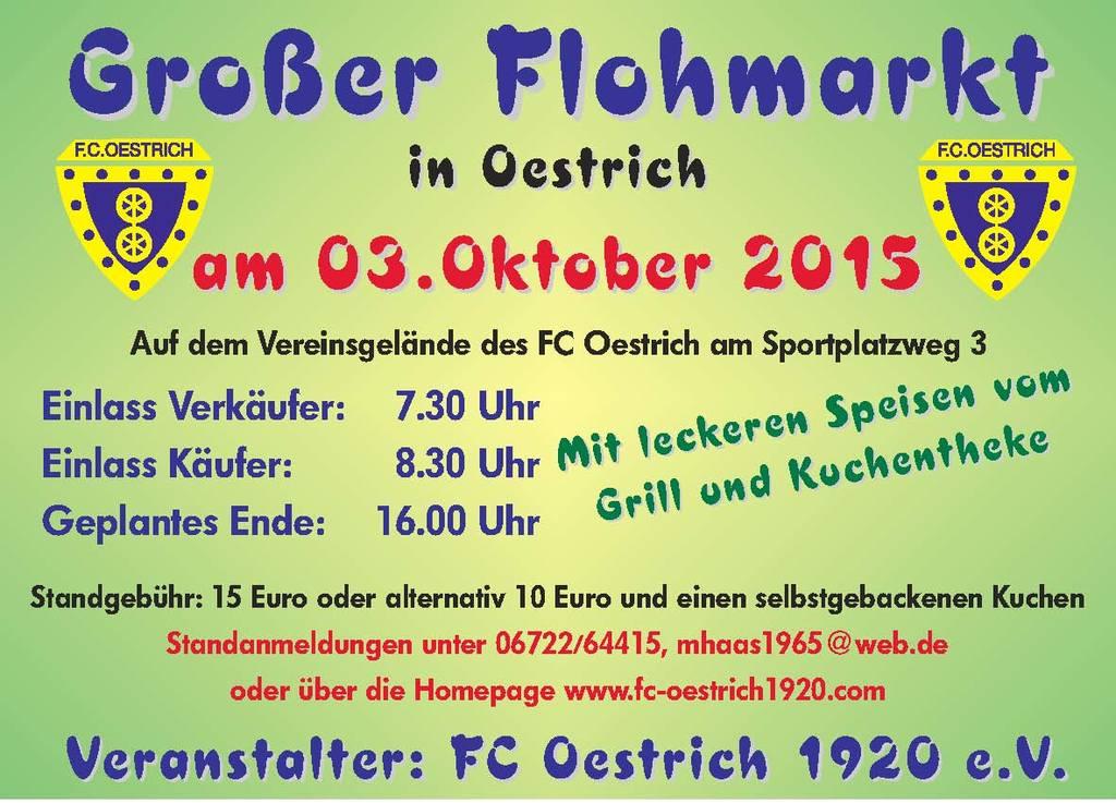 7 grosser flohmarkt des fc oestrich am in 65375 oestrich winkel oestrich am 3 okt. Black Bedroom Furniture Sets. Home Design Ideas