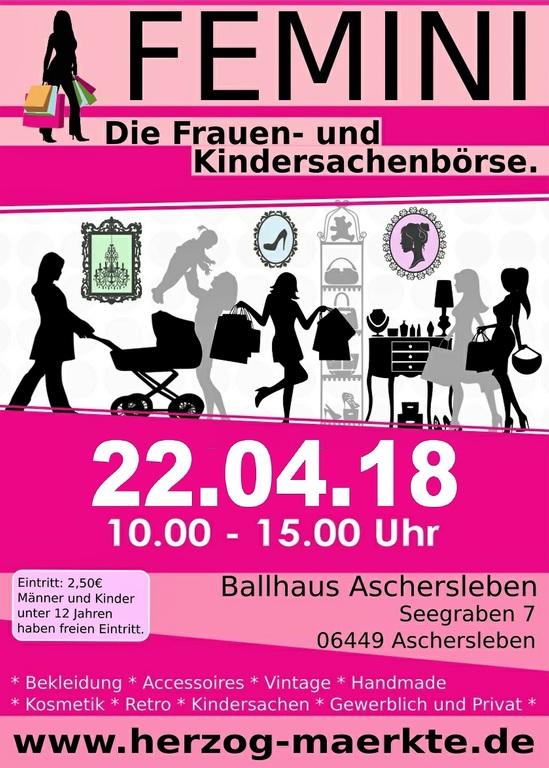 femini frauen und kindersachenb rse ballhaus in 06449. Black Bedroom Furniture Sets. Home Design Ideas